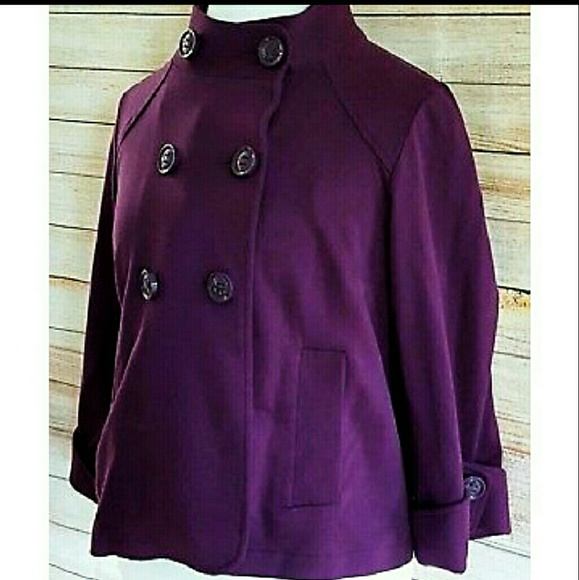 """CAbi Jackets & Blazers - CAbi """"Terry Topper"""" Doubl Breasted Plum Jacket"""